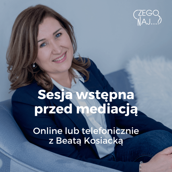 Beata Kosiacka Sesja wstępna przed mediacją